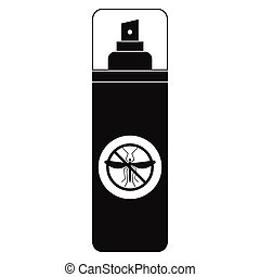 Mosquito spray black simple icon