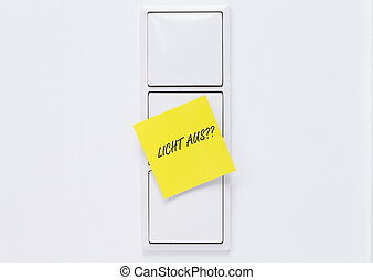 Turn off light switch - Image shows an notification on light...