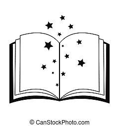 Magic book of spells open