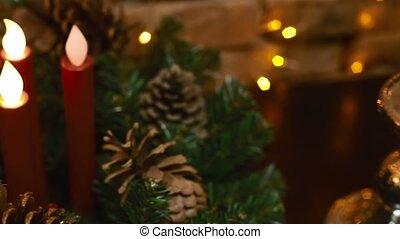Christmas-tree bigwigs and candles - New Years...