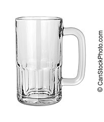 Empty Beer Mug isolated on a white background with a...