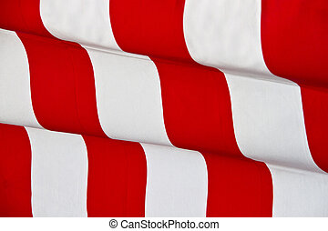 Red striped waving fabric background