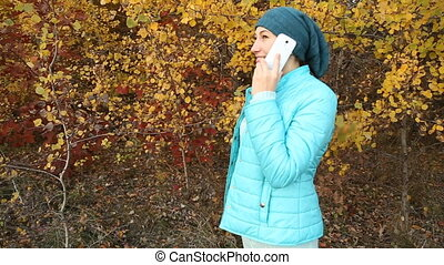 woman with the phone