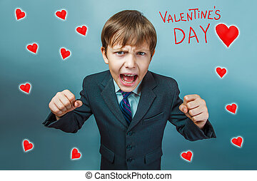 shouting about Valentines day