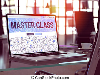 Master Class Concept on Laptop Screen. - Master Class...