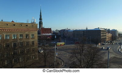 Aerial view over the Old Riga City 1 - Aerial view over the...