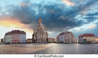 Dresden panorama, Frauenkirche - Time lapse