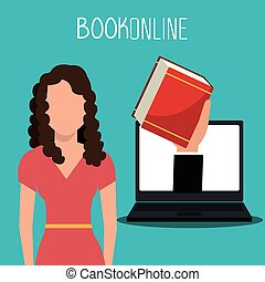 eLearning and online books graphic design, vector...