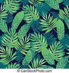 Tropical seamless pattern.