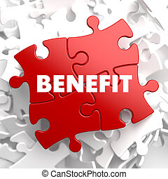 Benefit on Red Puzzle - Benefit on Red Puzzle on White...