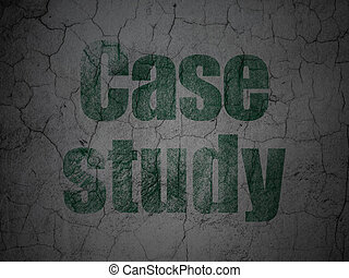 Learning concept: Case Study on grunge wall background