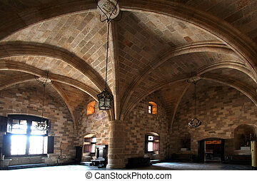 Chamber - Interior of medieval castle Rodes island