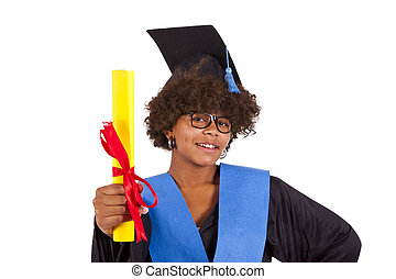 girl with graduation gown