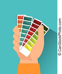 Pantone colors graphic design, vector illustration eps10