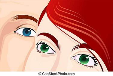 Family	 - Illustration of eyes of two women's