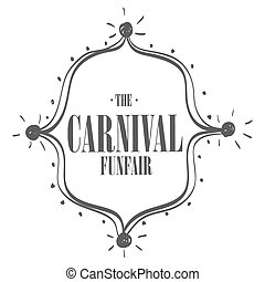Circus carnival funfair graphic design ,vector illustration...