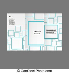Vector cover set square background. Modern design.