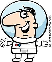 astronaut cartoon illustration - Cartoon Illustration of...