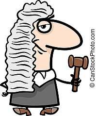 judge cartoon illustration - Cartoon Illustration of Funny...