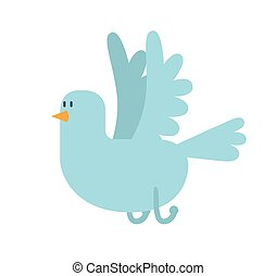 Dove vector icon illustration Dove cartoon style bird fly...