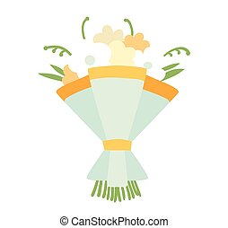 Wedding bouquet vector illustration Wedding bouquet flowers...