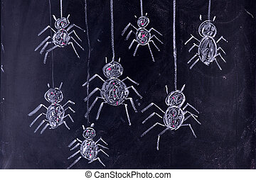 Arachnophobia: Fear of Spiders - Graphic representation with...