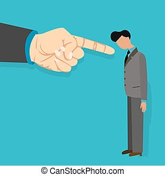 employee blame by boss get fired finger pointing blaming...