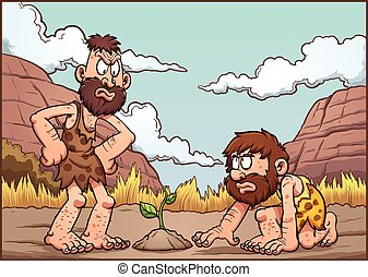 Cartoon cavemen