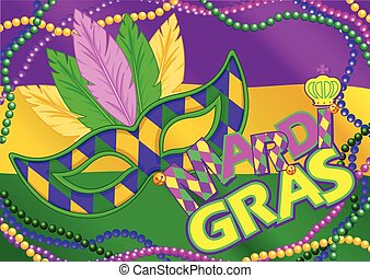 Mardi Gras Background - Mardi Gras mask design background