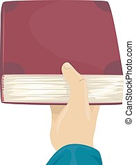 Cropped Hand Give Book - Cropped Illustration of a Man...