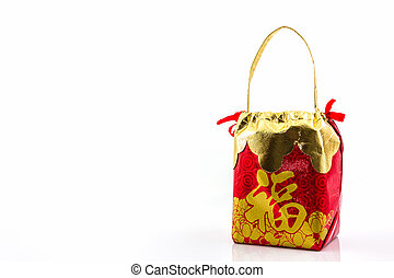 Red lucky bag - Red lucky bag, symbol for chinese new year