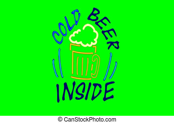 NLP Cold beer sign v2 - Based on my fun traditional type pub...