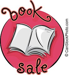 Book Sale Icon - Icon Illustration Featuring an Open Book...
