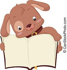 Cute Dog Open Book