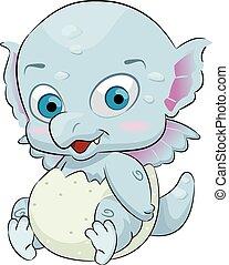 Cute Baby Dragon Egg