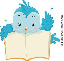 Blue Bird Open Book
