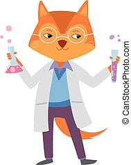 Cute Fox Scientist