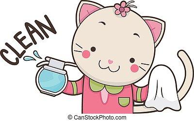 Cute Cat Clean