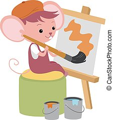 Cute Mouse Painting