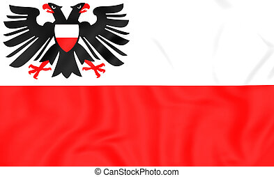 Flag of Lubeck Schleswig-Holstein, Germany - 3D Flag of...