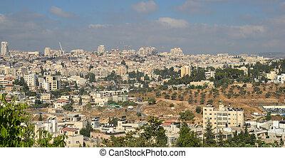 panorámico, jerusalén, vista