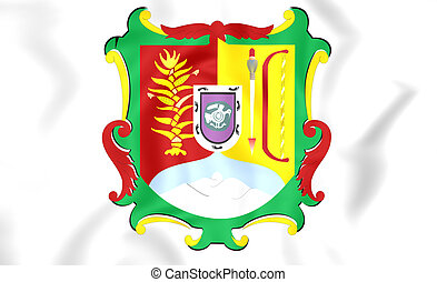 Flag of Nayarit, Mexico. - 3D Flag of Nayarit, Mexico. Close...
