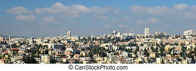 panorámico, jerusalén, moderno, vista