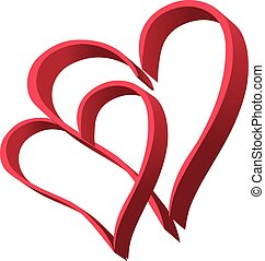 two hearts 3 - It is a vector illustration of two hearts
