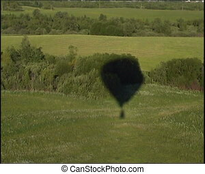 view from basket - russian hot air balloon sport...