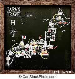 creative Japan travel map