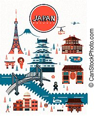 exquisite Japan travel poster design - Welcome to Japan in...