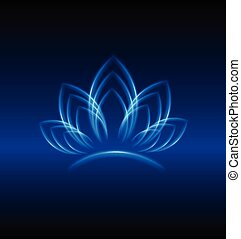 Lotus blue flower logo