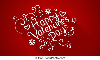happy valentines day text with long shadows - happy...