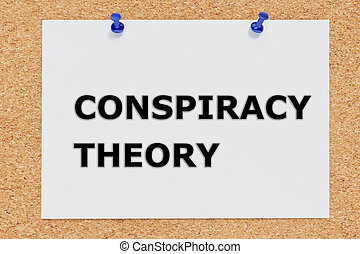 Conspiracy Theory concept - Render illustration of...